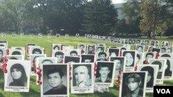 مراسم یادبود قربانیان کشتار ۶۷ در مقابل کنگره آمریکا، واشنگتن