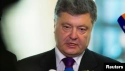 오는 25일의 우크라이나 대통령 선거를 앞두고 지지율 1위를 달리고 있는 페트로 포로셴코 후보.