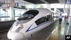 北京到天津的高速列车和谐号