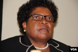 Former Vice President Joice Mujuru addressing a press conference in Harare on Tuesday, March 1, 2016. (Photo: Mavis Gama)