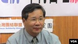 台湾在野党台联党政策会主委许忠信(VOA 美国之音张永泰拍摄 )