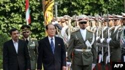 کیم یونگ نام در سپتامبر 2012 به تهران سفر کرد و با ایران پیمان همکاری امضا کرد