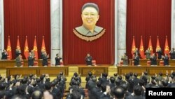 지난달 18일 북한 평양에서 열린 노동당 중앙위원회 정치국 확대회의 (자료사진)