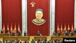 지난 18일 북한 평양에서 노동당 중앙위원회 정치국 확대회의가 열렸다고 조선중앙통신이 19일 보도했다. (자료사진)