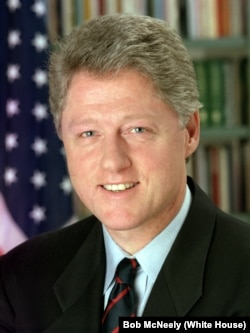 Bill Clinton was the first president from the Democratic Party to serve two full terms since Franklin Roosevelt.