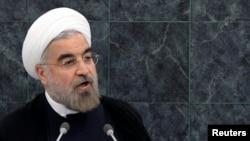 ປະທານາທິບໍດີ Hassan Rouhani ກໍາລັງກ່າວຄໍາປາໄສ ຕໍ່ກອງປະຊຸມສະມັດຊາໃຫຍ່ ສະຫະປະຊາຊາດ