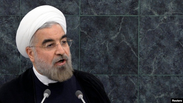 Iran's President Hassan Rouhani addresses the 68th United Nations General Assembly at U.N. headquarters September 24, 2013.