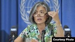 유엔 인도주의업무조정국 강경화 씨. 유엔 뉴스센터 자료사진.