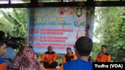 Pembukaan Sekolah Sungai di Solo (Foto: VOA/Yudha)