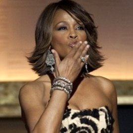 Singer Whitney Houston blows a kiss to the audience at the BET Honors Awards in Washington, D.C. January 17, 2009.