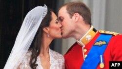 Hoàng tử Anh William và Kate Middleton trong ngày tân hôn, ngày 29 tháng 4, 2011