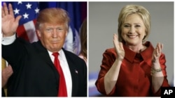 Republican presidential candidate Donald Trump and Democratic presidential candidate Hillary Clinton.