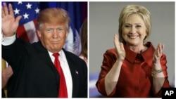 Ứng cử viên tổng thống của đảng Dân chủ Dân chủ Hillary Clinton và ứng cử viên tổng thống đảng Cộng hòa Donald Trump.