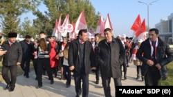 """""""Adolat"""" sotsial-demokratlar partiyasi faollari"""