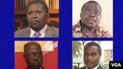 Isaías Samakuva, Eduardo Kwangana, Lucas Ngonda e Abel Chivukuvuku