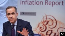 Mark Carney, the Governor of the Bank of England, speaks during the quarterly Inflation Report press conference, in London, Feb. 4, 2016. The central bank is preparing a contingency plan for the aftermath of Britain's referendum on European Union membership, Carney said on Feb. 23, 2016.