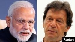 인도의 나렌드라 모디 총리(왼쪽)와 임란 칸 '파키스탄정의운동(PTI)'대표.