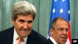 John Kerry da Serge Lavrov sakatarorin harkokin wajen Amurka da Rasha