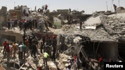 6일 이라크 군 전투기가 바그다드 동부 지역에 실수로 민가에 폭탄을 투하했다.