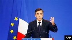 Ֆրանսիայի վարչապետ Ֆրանսուա Ֆիլոնը` ֆինանսական խնայողության միջոցները ներկայացնելու ելույթի ժամանակ, նոյեմբերի 07 2011թ.