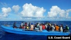 Yon gwoup 84 migran yo jwenn nan zòn zil Turks ak Caicos 28 oktòb 2018 pase a .