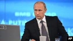 Vladimir Putin habló en la televisión rusa.