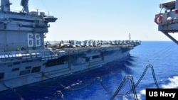 """AQShning """"USS Nimitz"""" avianosetsi Janubiy Xitoy dengizida, 2020-yil, 7-iyul"""