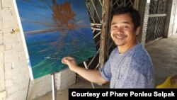 Srey Bandaul was a co-founder of Phare Ponleu Selpak arts school. He was a visual artist and an art teacher, teaching visual art to many students in Cambodia for about three decades. (Courtesy of Phare Ponleu Selapak)