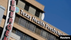 Bệnh viện Texas Health Presbyterian Hospital ở Dallas, nơi bệnh nhân mang quốc tịch Liberia đang được điều trị, 1/10/2014.