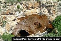 The natural entrance of Carlsbad Caverns.