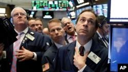 Operadores de la Bolsa de Nueva York, el miércoles 14 de noviembre de 2018.