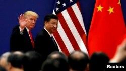 Tổng thống Trump và ông Tập trong cuộc gặp năm 2017.