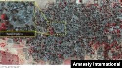 Amnesty International released this satellite photo accusing Boko Haram of attacks in Baga.