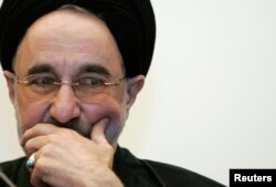 FILE - Former Iranian President Mohammad Khatami attends a meeting on peace at the Gregorian Pontifical University in Rome, May 3, 2007.