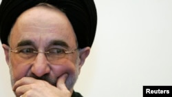 FILE - Former Iranian President Mohammad Khatami, May 3, 2007.