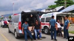印尼當局準備棺木運走屍體