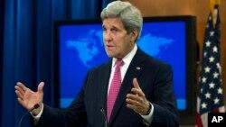 2016年4月13日美国国务卿约翰·克里在国务院发布2015年各国人权报告