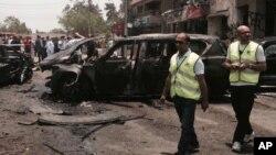 Le site de l'attentat contre le procureur au Caire (AP Photo/Ahmed Hatem)