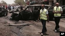 Automobil bomba posle eksplozije, Egipat 29. jun 2015.