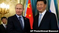 俄羅斯總統普京和中國國家主席習近平。