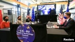 2021年9月29日,美国与欧盟官员在匹兹堡举行贸易与投资会谈(路透社)。
