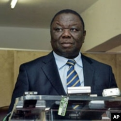 Zimbabwe's PM Morgan Tsvangirai at a press conference in Harare (File)