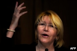 Venezuela's Attorney General Luisa Ortega speaks during a press conference in Caracas, July 31, 2017.