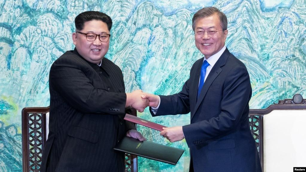 Korean leaders no more war on peninsula m4hsunfo