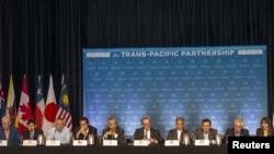 12個參加跨太平洋伙伴關係貿易協定TPP談判的國家7月31日在夏威夷。