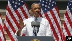 奥巴马总统6月25日在乔治城大学公布减少碳排放的计划。