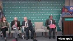 Baskara T. Wardaya, S.J., Ph.D., saat menjadi salah satu pembicara di Hudson Institute, Washington D.C.,9 Juli 2019. (Foto: videograb/Hudson Institute)