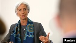 FILE - IMF Managing Director Christine Lagarde