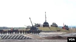 2014年莫斯科武器戰上俄羅斯展示軍力資料照。