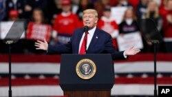 Президент США на мітингу у штаті Айова